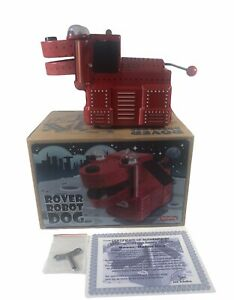 Schylling Collector Series Rover Robot Wind Up Tin Space Dog W/ COA New