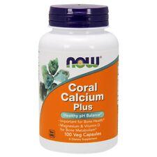 NOW Foods Coral Calcium Plus Magnesium & Vitamin D 100 VCaps, FRESH, Made In USA
