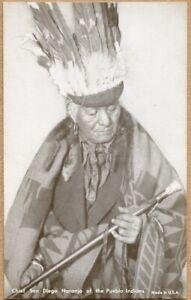 Chief San Diego Naranjo Pueblo Indians Native American Arcade Exhibit Card