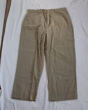 White Stag Womens 10 Khaki Capris Capri Pants W29 H35 L21 R11.5