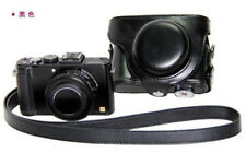Black Leather Camera Case Bag For Panasonic Lumix DMC-LX7 LX5 Leica D-LUX6 LUX5