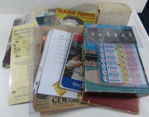 (Appx 50) Vintage Baseball / Sports Balance of Collection Memorabilia Lot