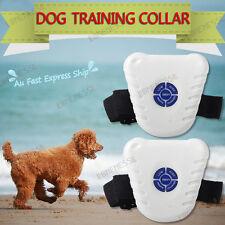 2x Brand New Bark Stop Pet Dog Training Collar Ultrasonic Anti Barking Control