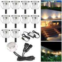 10er Set 30mm 12V LED Boden Einbaustrahler Gartenleuchte Küche Außen Spot IP67
