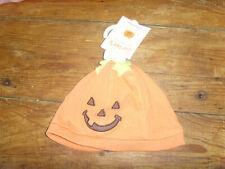 NWT Carters 3-9 mo baby girl or boy Halloween pumpkin jack-o-lantern hat cap NEW