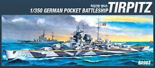 Academy Plastic Model kit 1/350 German Pocket Battleship Tirpitz Ship #14111