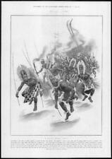1904 Antique Print - INDONESIA Papua Tribe Dance Dogs Teeth Armlets Wands (242)
