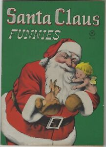 DELL FOUR COLOR 128 SANTA CLAUS FUNNIES 1946 CHRISTMAS COMIC VF+