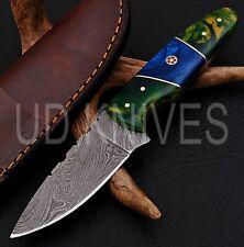 7 INCH UD CUSTOM DAMASCUS STEEL HUNTER SKINNER KNIFE RAIZAN HANDLE ,B5-11351