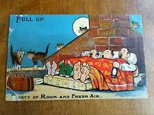 R098 Full Up. 'Plenty of Room and Fresh Air' Comic Postcard c1918