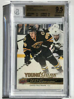 2014-15 Upper Deck David Pastrnak Young Guns Canvas RC BGS 9.5