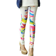 PunkJewelry Fashion Tattoo Leggings BUNTES Dekor Design EINHEITSGRÖSSE