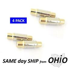 gold RCA connector UNION HIGH QUALITY dual female splice push in adapter NEW