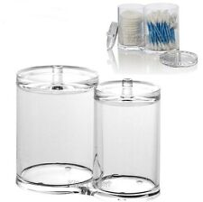 Acrylic Cotton Ball Bud Swab Holder Makeup Pad Storage Organizer Case Bathroom