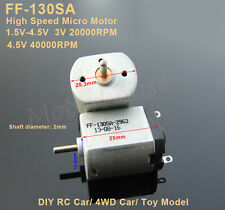 DC 3V 20000RPM High Speed 130SA Carbon Brush DC Micro Motor RC Car Toy Model