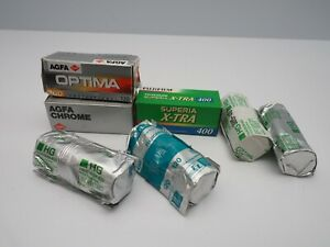7 ROLLS OUT OF DATE 120 & 220 ROLL FILM COLOUR  *H45