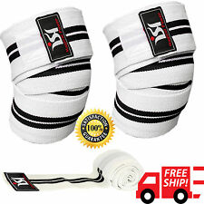 Power Weight Lifting Gym Knee Wraps Training Guard Pads Workout Straps Crossfit