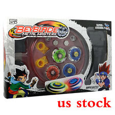 4D Metal Master Rapidity Fusion Fight Rare Beyblade Stadium Launcher Grip Sets