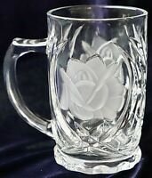 Vintage Mikasa Crystal Mug-(1 piece/mug )-Frosted Rose Pearl Pattern 350ml