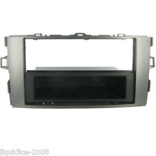 CT24TY38 TOYOTA AURIS 2007 to 2013 SILVER SINGLE DIN FASCIA FRAME & POCKET