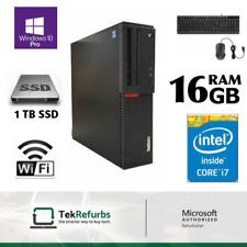 Lenovo ThinkCentre M800 SFF Desktop Core i7-6700 16GB DDR4 1TB SSD Win 10 Pro