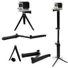 Three way adjustable selfie  for Gopro Hero 5 4 3+ 3 2 Handheld Folding hol