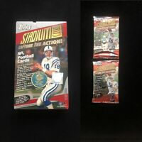 Lot of 2 UNOPENED 2000 Topps Stadium Club🔥HOBBY🔥Football Packs Exclusive Autos