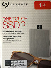 Seagate One Touch SSD 1TB Ultra Portable USB Hard Drive, For Windows&Mac - White