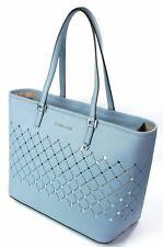 Michael Kors Violeta Saffiano cuero polvo azul bolsa para compras bolso grande