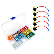 Circuit Dual Apr Ato Atc Blade Style Fuse Holder Fuse Tap + Fuse Set-am