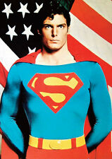 Superman Christopher Reeve USA Flag POSTER
