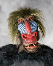 Big Baboon Scary Ape Man Funny Adult Latex Halloween Mask Moving Mouth