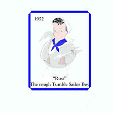 """Vintage """"Russ"""" Rough Tumble Sailor 14"""" Doll Sewing Pattern"""