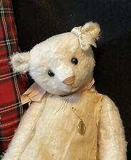 Sweet Rose White Bear In Linen Romper by Susanne Tauber