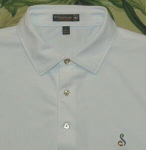 PETER MILLAR Summer Comfort White Polo Golf Shirt Streamsong Large L