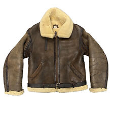 Vintage Avirex B-3 Shearling Leather Flight Bomber Jacket USAAF 40 Made in USA