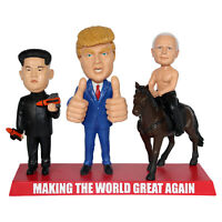 President Trump, Kim Jong-un and Putin Making the World Great Again Bobbleheads