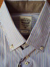 Mens LAMBRETTA Long Sleeve Cotton Striped Shirt Size: Large - BNWT