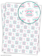 Funny Birthday Gift Wrap Wrapping Paper For Her Bestie BFF Boogie Shoes 2 Sheets
