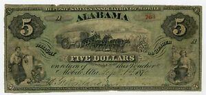 1870 $5 The Deposit Savings Association of Mobile, ALABAMA Note