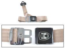 3-Point Seat Belt, Almond, Black Buckle 50-67. VW Splitscreen Campervan Bus