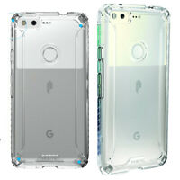 For Google Pixel (2016) + Clear Shockproof 360° Bumper TPU Cover Case Clear