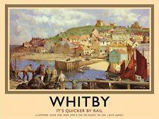 Whitby Porto, ferrovie britanniche, Yorkshire TRENI Grande in metallo