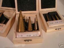 3-Piece Fresa a Gradini SET (4 mm a 32mm) rivestito in titanio