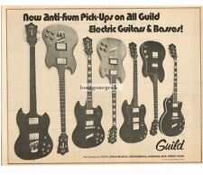 1971 Guild Electric Guitars and Basses new anti-hum pickups on all Vtg Print Ad