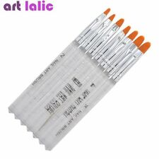 7Pcs UV Gel Brush Pen Acrylic Nail Art Painting Drawing Brushes Set Decoration