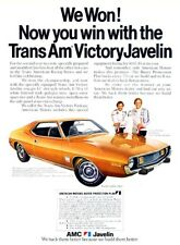 1973 AMC Javelin Race Victory Original Advertisement Print Art Car Ad D157