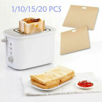 1-20PCS Sandwich Toaster Toast Bags Non-Stick Reusable Safety Heat-Resistant