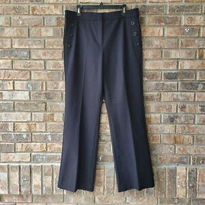 Ann Taylor Women's Size 14 The Sailor Flare High Rise Flare Leg Pants Black NEW