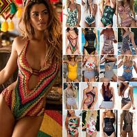 Women's One Piece Monokini Bikini Push Up Beach Swimsuit Swimwear Bathing Suit